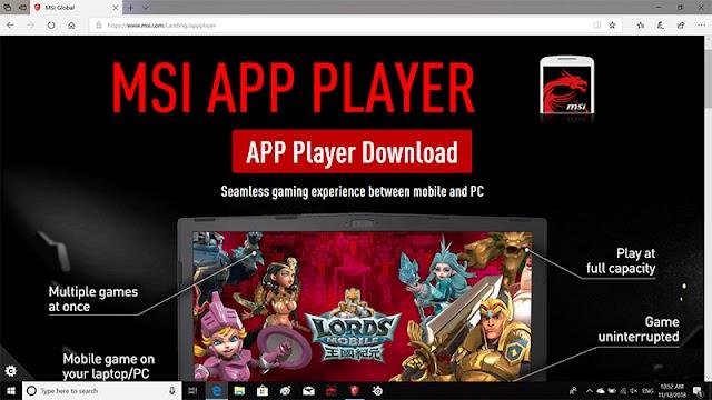 MSI App Player Le meilleur Émulateur Android sur PC /MSI/