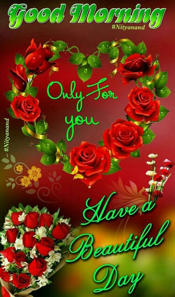 Heart Rose Wreath Good Morning Quote Pictures Photos And Images