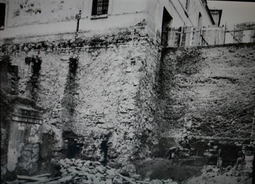 Plaza de Padilla (Toledo). Foto durante excavaciones