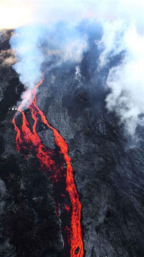 reunion island volcano wallpaper  iphone  pro max        wallpapers