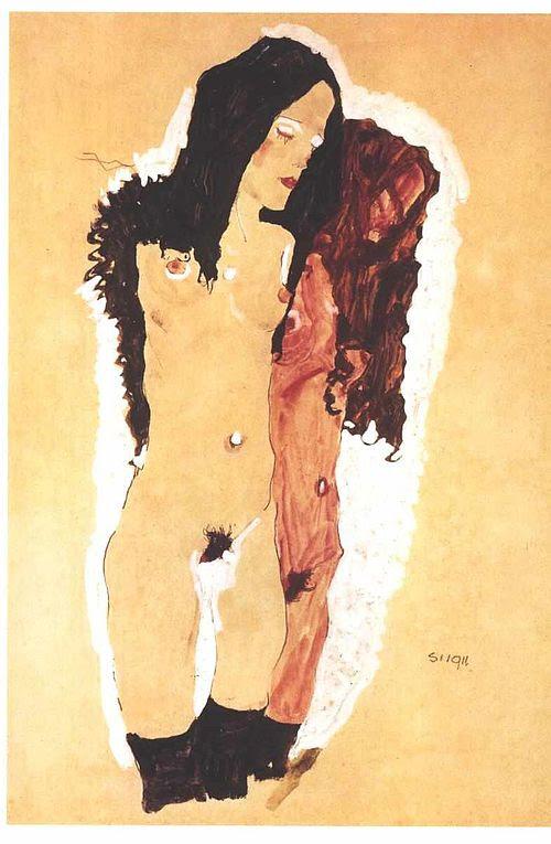Schiele - Zwei liegende Mädchen - 1912