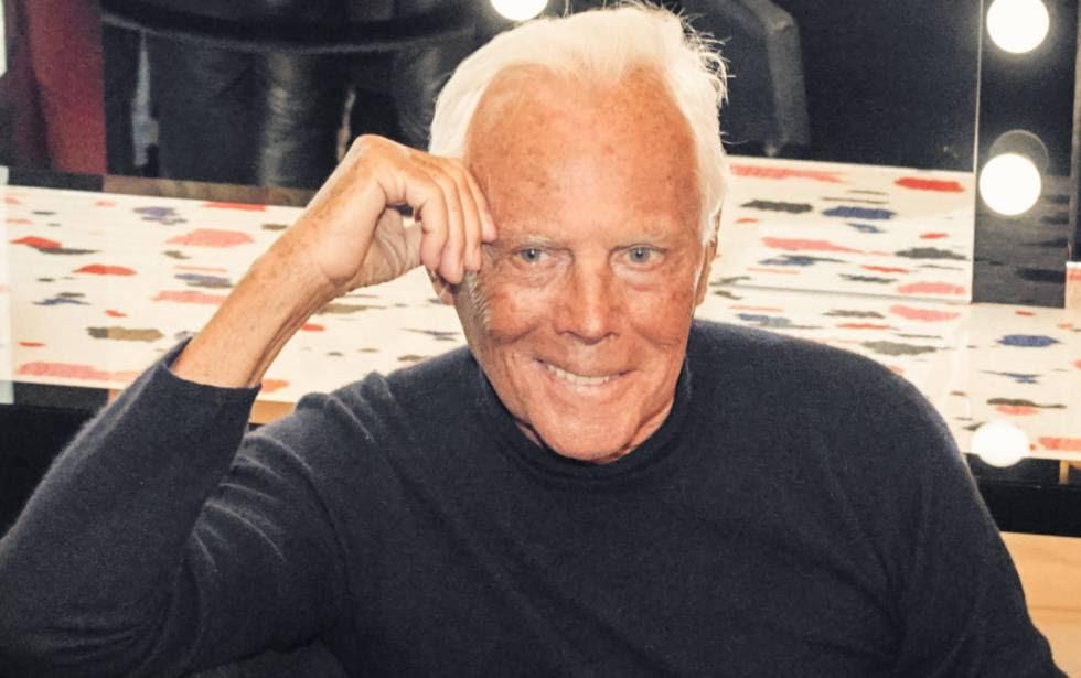 El diseñador italiano Giorgio Armani.