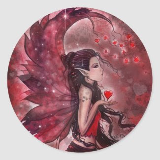 Hearts Valentine Fairy Stickers sticker