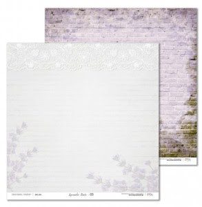 Papier 30x30 cm - Lavender Date - 03 Laserowe LOVE