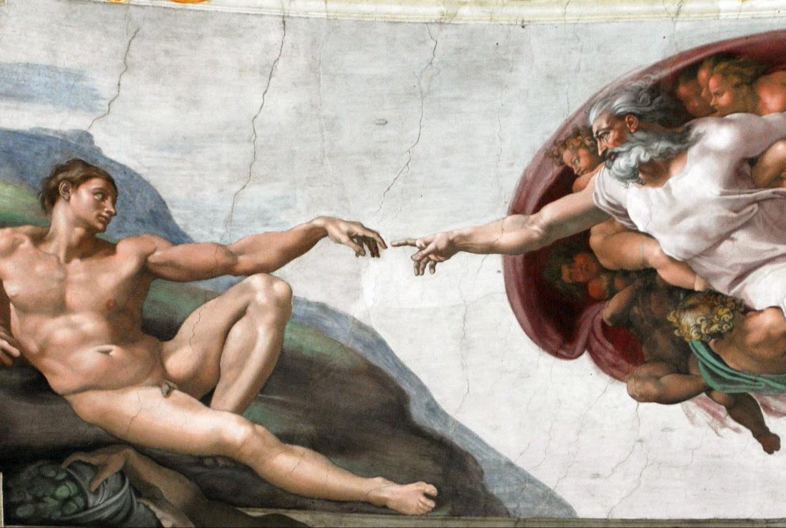 Résultats de recherche d'images pour «Adam's creation Michel Ange»