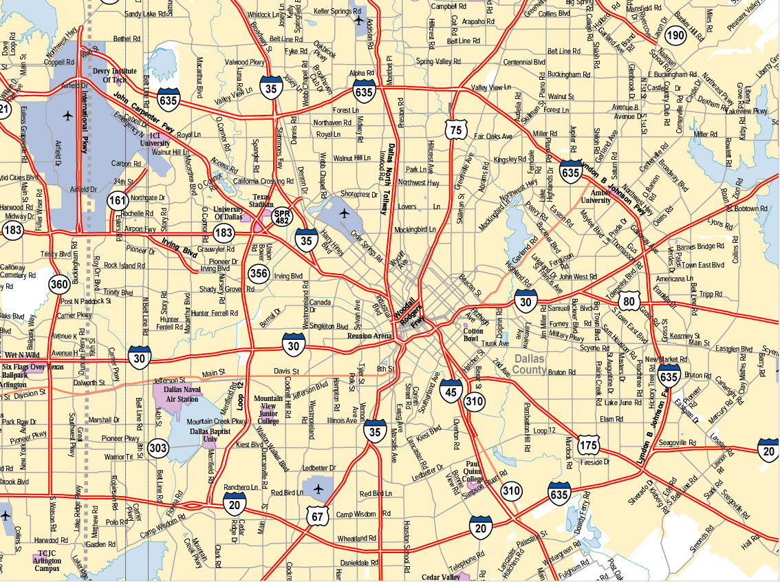 Maps Dallas Texas