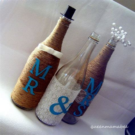 Twine/ Pearl/ Mr & Mrs Wine Bottle Reception by