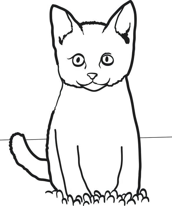 Easy Cat Coloring Pages at GetColorings.com | Free ...