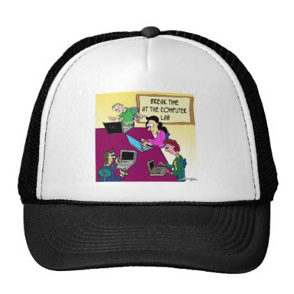 Computer Cartoon 8987 Trucker Hat