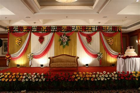 Home decorators outdoor furniture, wedding stage
