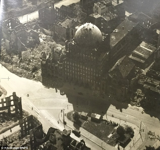 Flt Lt Parfitt, from Wiltshire, also took a series of stunning aerial images of the cities he flew over