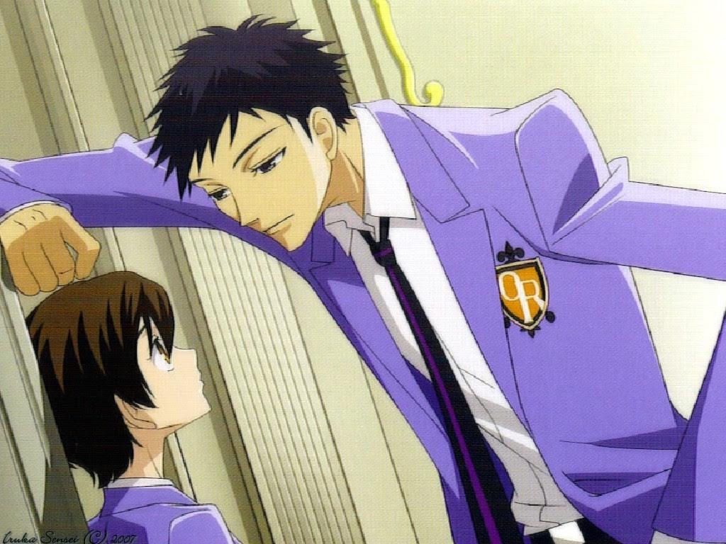 Mori Flirting With Haruhi Ouran High School Host Club Wallpaper