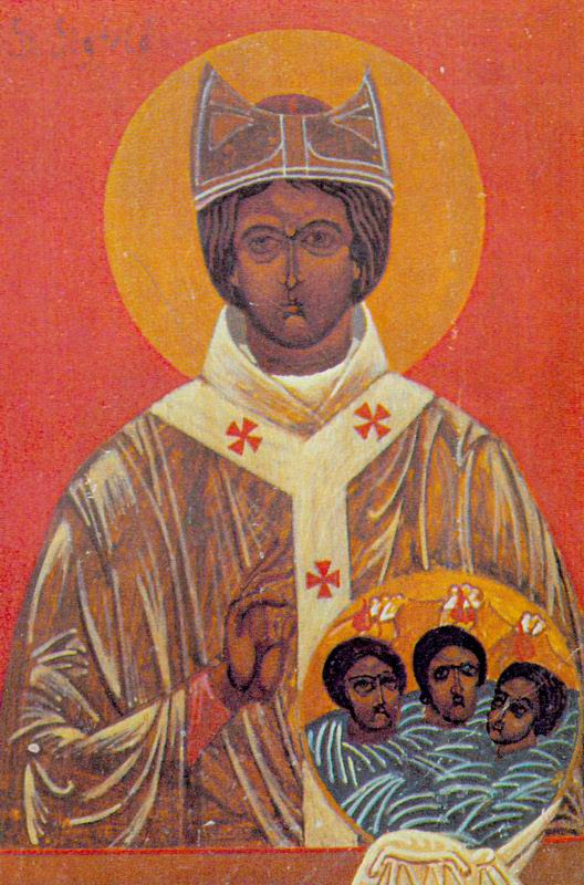 icone Orthodoxe de saint Sigfrid de Vaxjo, apotre de la Scandinavie
