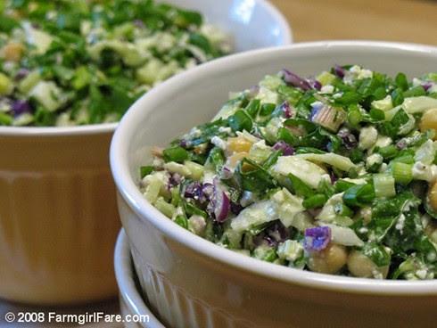 Swiss Chard Cabbage Salad