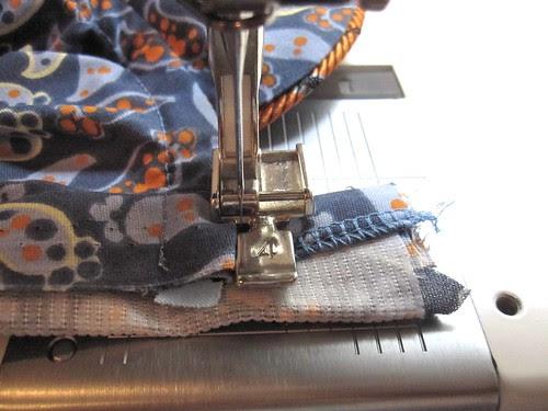 Stitch Placket at Top of Neckline