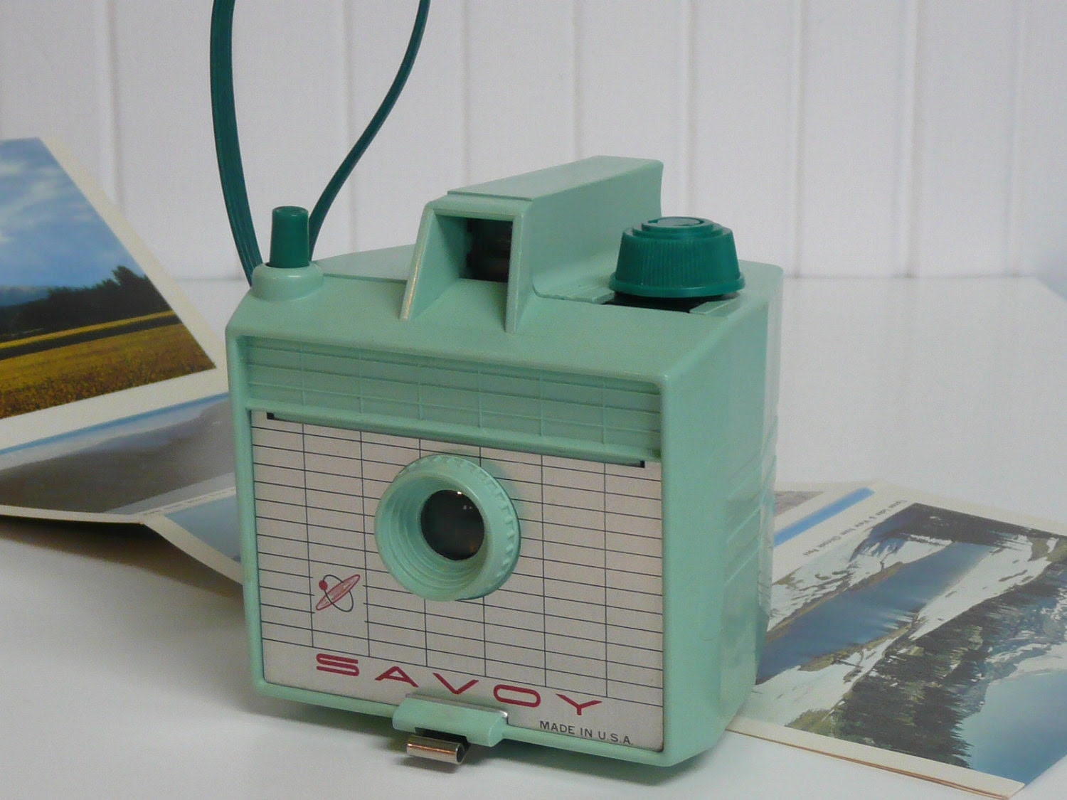 1960s Mint Green Imperial Savoy Bakelite Box Camera, Collectible - Vintage Travel Trailer and Home Decor