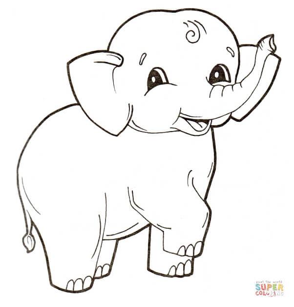 Dibujos De Elefantes Para Colorear Páginas Para Imprimir Y