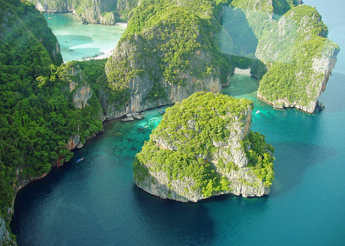 Losamah Bay, Phi Phi from the air