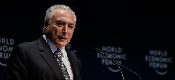 São Paulo - O presidente Michel Temer discursa na sessão plenário de abertura do Fórum Econômico Mundial para a América Latina (Beto Barata/PR)