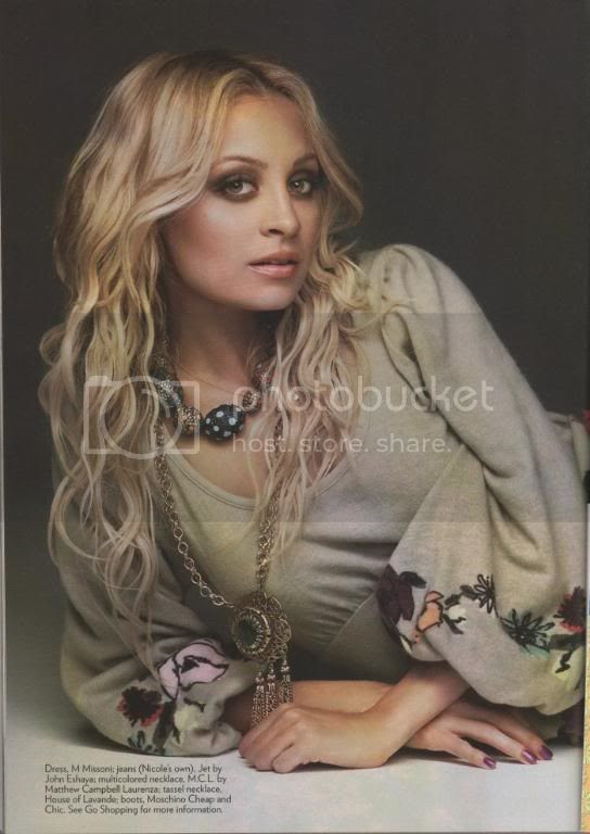 nicole richie glamour magazine