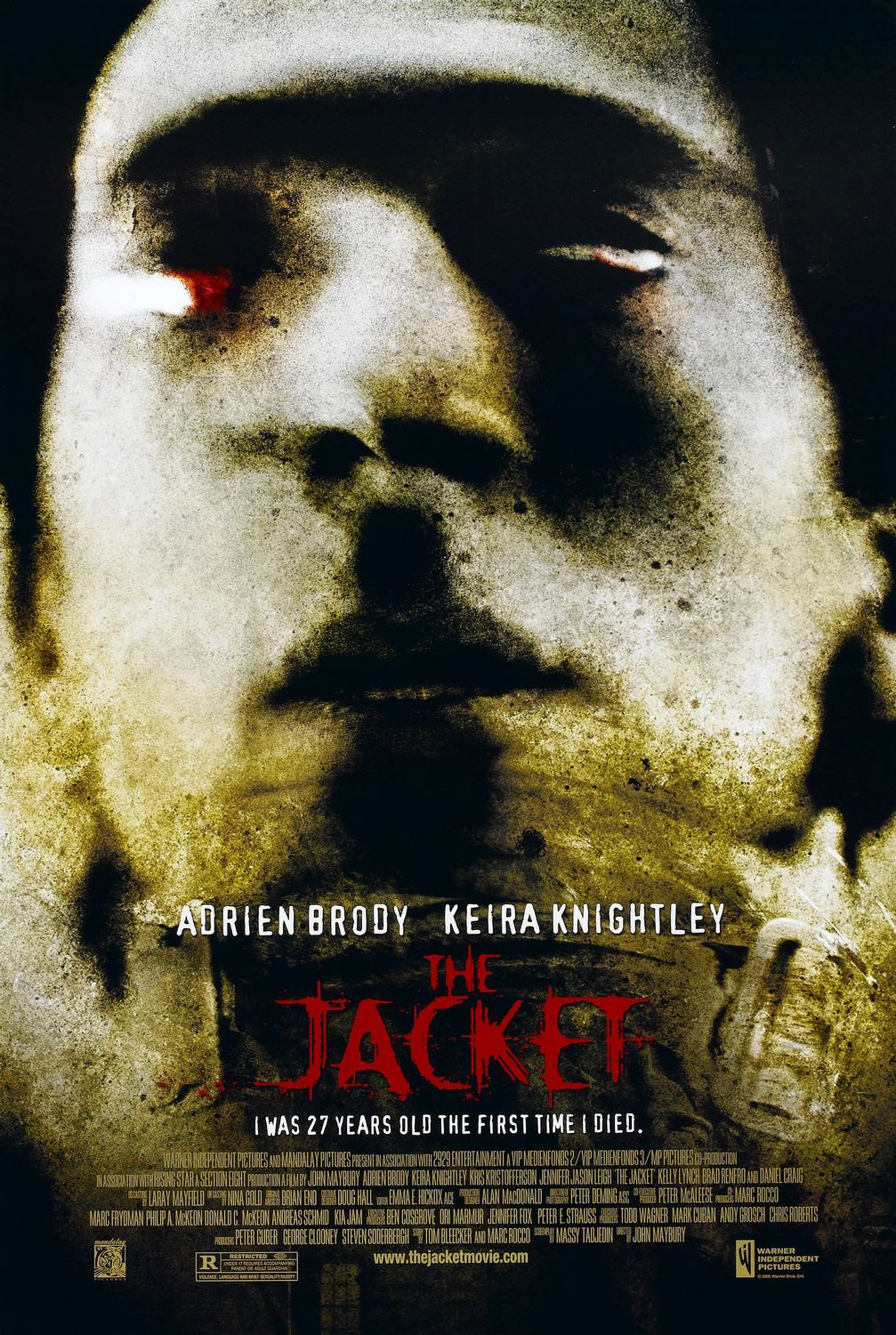 Risultati immagini per the jacket movie poster