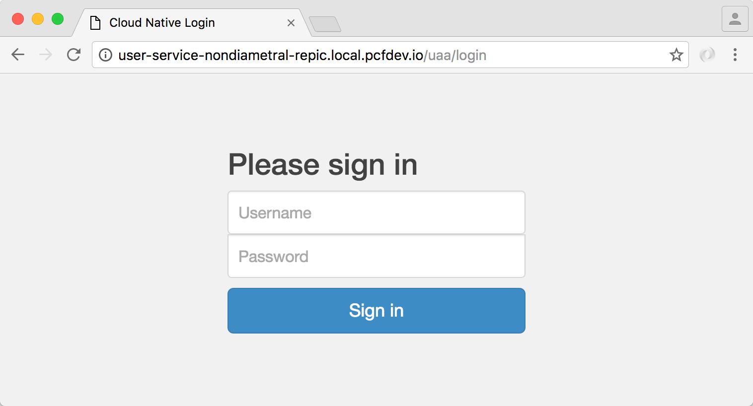 OAuth2 user login