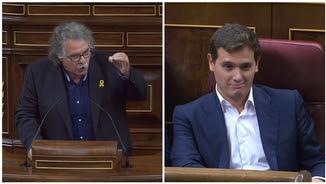 """Joan Tardà ha retret a Albert Rivera que digui """"colpistes"""" als independentistes acusats de rebel·lió, i li ha dit que és """"un feixista"""""""