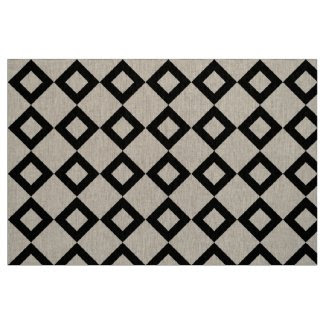 Transparent and Black Diamond Pattern Fabric