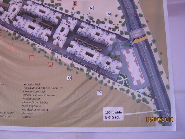Layout plan of Aishwaryam Courtyard 1 BHK 2 BHK 3 BHK Flats on Akurdi Chikhali Road