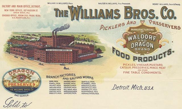 Michigan pickling factory stationery layout