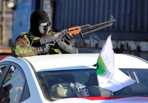 Une patrouille de combattants chiites aux alentours de Khales, dans la province de Diyala, en Irak, le 2 février 2015