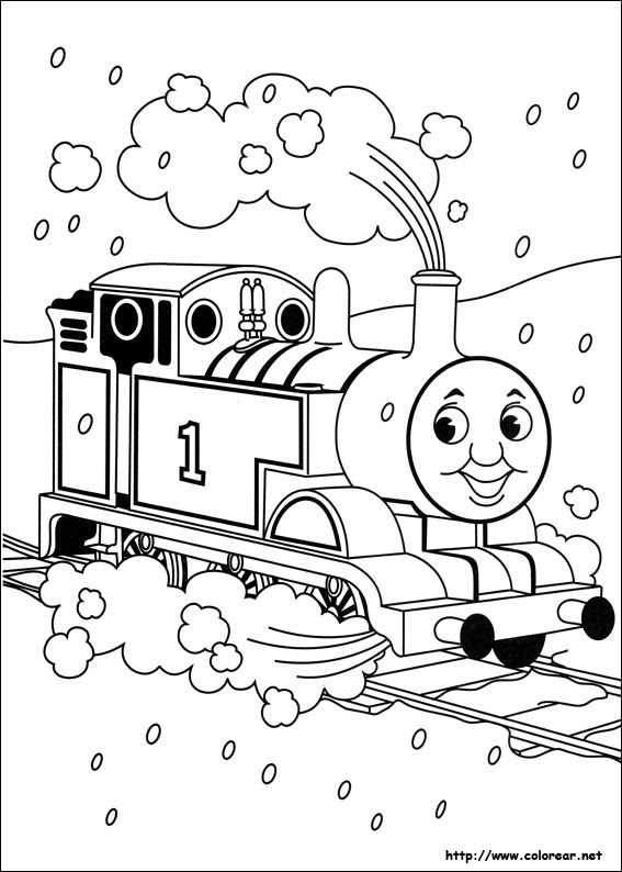Dibujos De Thomas Y Sus Amigos Para Colorear En Colorearnet