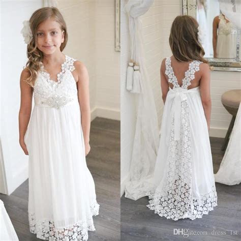 2017 New Arrival Boho Flower Girl Dresses For Weddings