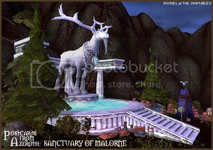 Postcards of Azeroth: Sanctuary of Malorne, by Rioriel of theshatar.eu