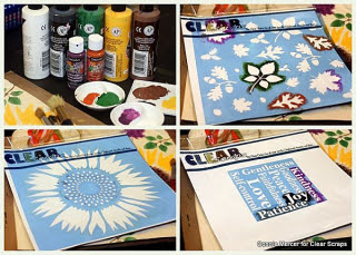 Sunflower stencil_clear scraps_c.mercer