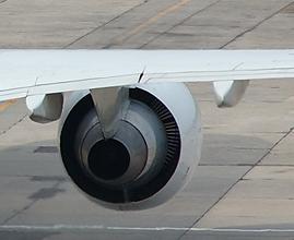 Boeing 757 wing view (inflight trim)
