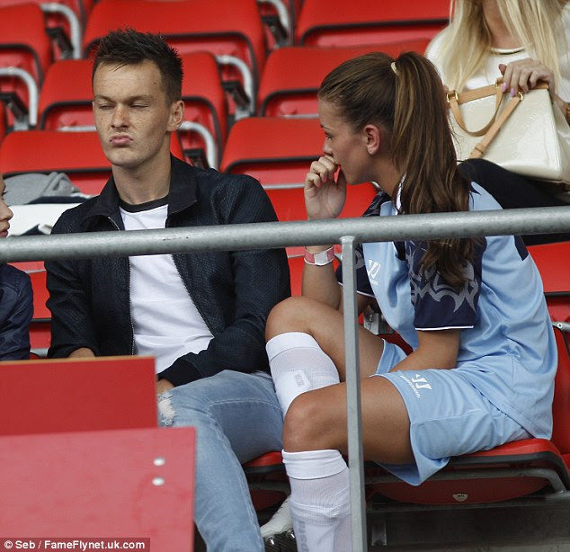 But Josh doesn't look impressed with Brooke's efforts on the football pitch
