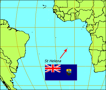 St Helena's remote location in the Atlantic