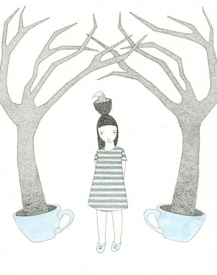 The Blue Teacup Forest - Print