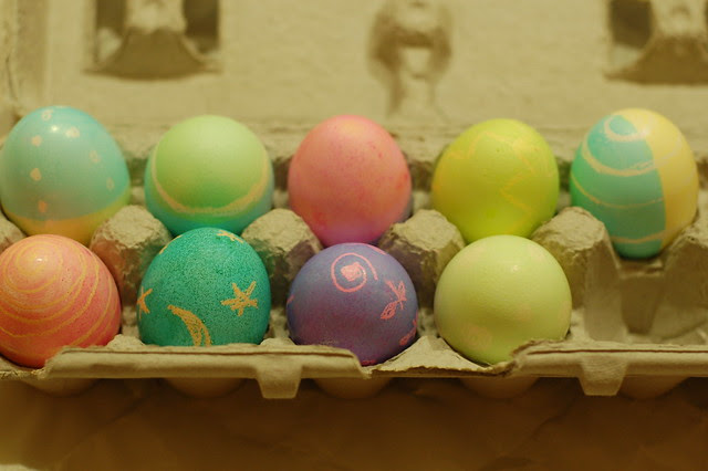 Easter Eggs, Dyed & Ready by Eve Fox, Garden of Eating blog, copyright 2011