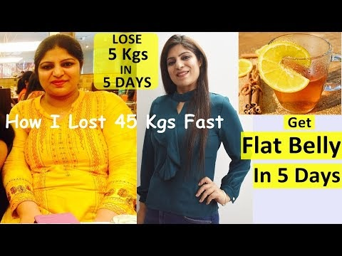 Get Flat Belly/Stomach In 5 Days - No Strict Diet - No Exercise - 100%