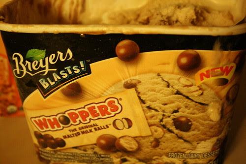 Breyers Whoppers ice cream