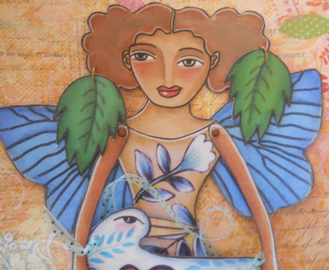 close up of butterfly fairy #6 paper doll