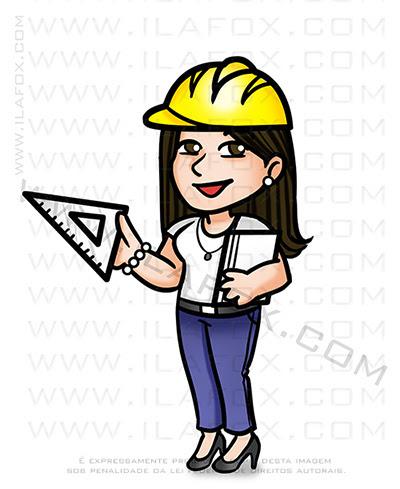 caricatura fofinha, caricatura simples, caricatura pequena, caricatura fofa, caricatura mini, caricatura arquiteta urbanista e professora, ila fox