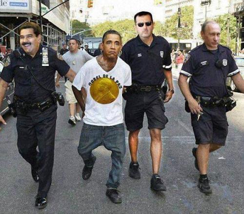 Arrestation d'un brigand à Washington