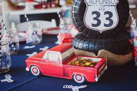 Kara's Party Ideas Vintage Chevy   Auto Garage Themed