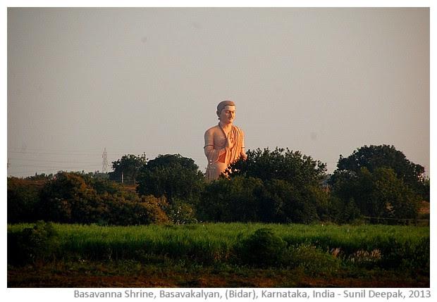 Basavanna giant statue, Basavkalyan, Karnataka - images by Sunil Deepak, 2013