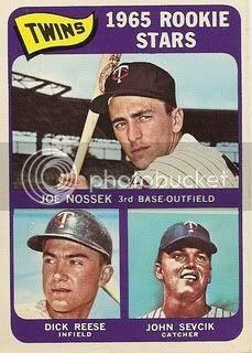#597 Twins Rookies: Joe Nossek, Dick Reese, and John Sevcik