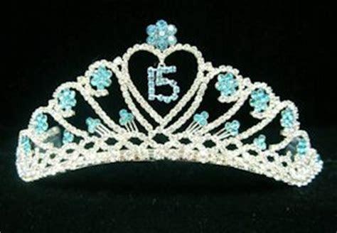 Quinceanera Flower Tiara in Turquoise   Sweet 16 Tiara in