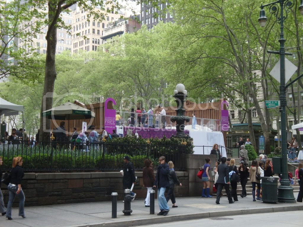 World's Biggest Bed Jump in Bryant Park